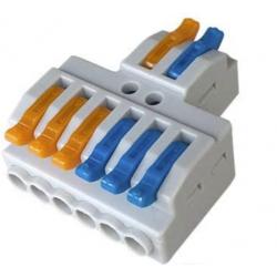 Easy wire connector 6 ways